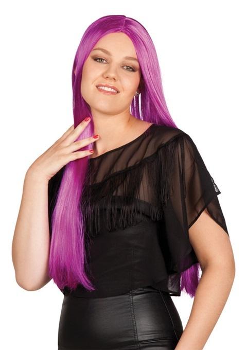 Perücke - Charming Langhaarfrisur violett