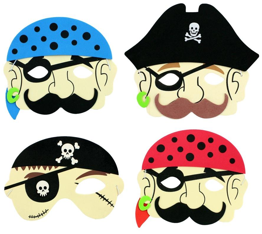 Maske Pirat 4 fach sortiert