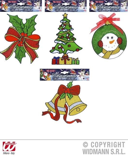 Fensteraufkleber Weihnachtsdekorationen 4 fach sortiert