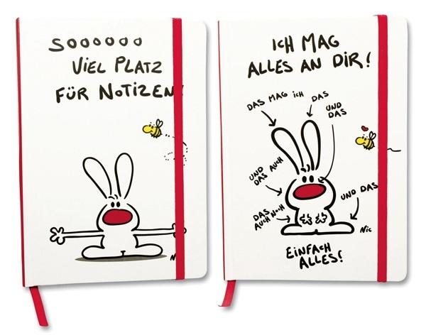 NIC - Notizbuch A5 2-fach sortiert - ca 21x14,5x1,5cm