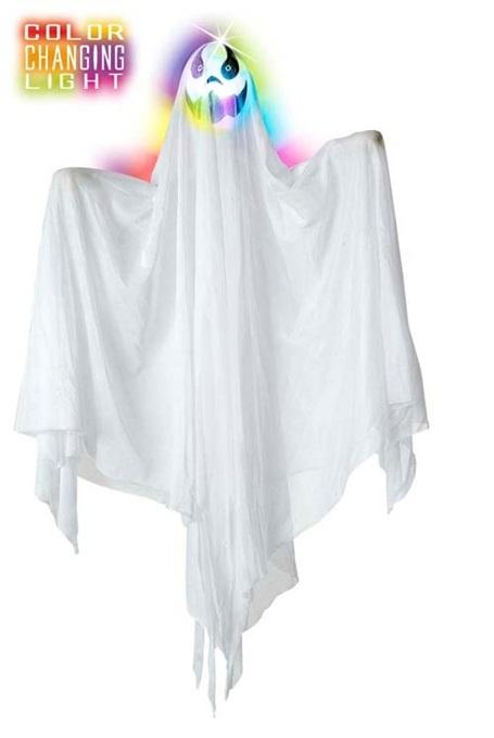 Geist - weiß hängend mit Lichtwechsel ca 90cm