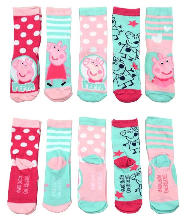 Socken Peppa Pig 5er Pack Größe 23/26