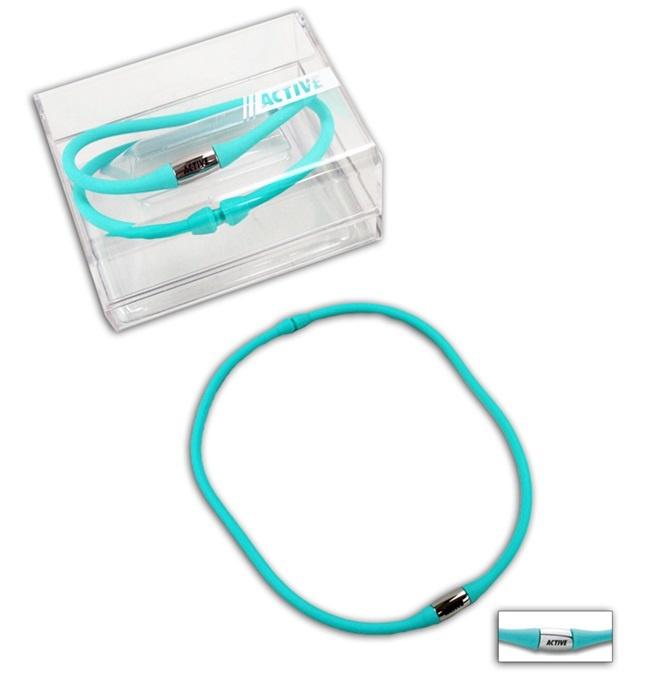 Halskette Silikon    Farbe türkis - Umfang ca 45cm