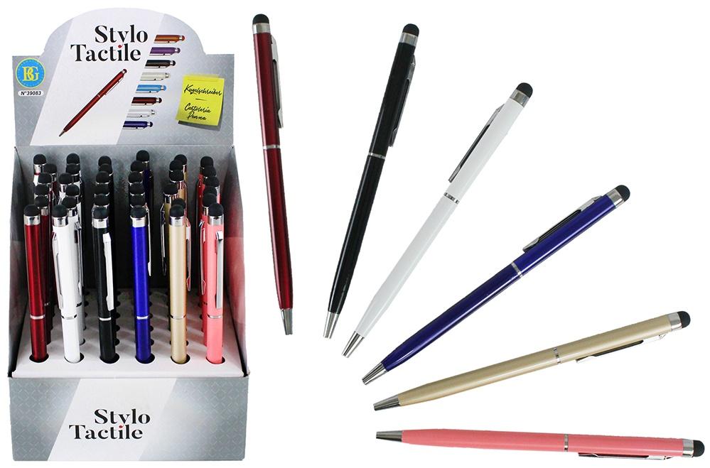 Kugelschreiber 2 in 1 mit Touchpen 6-farbig sortiert ca 14cm