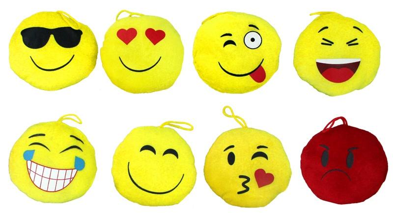 Lach Gesichter aus Plüsch 8 fach soriert ca 13 cm