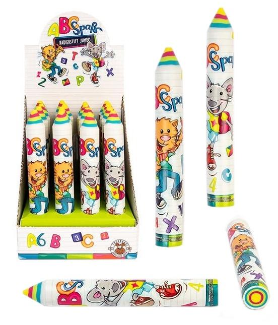 ABC SPASS Radierstift Jumbo 2 Farben sortiert ca 13,5x1,8cm