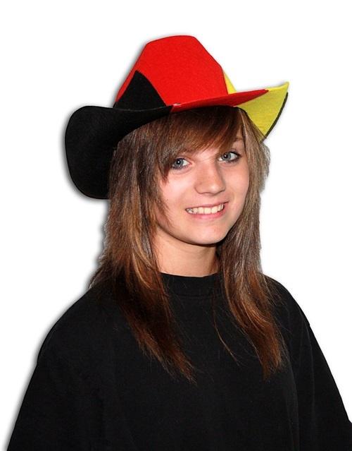 Cowboyhut in Deutschlandfarben