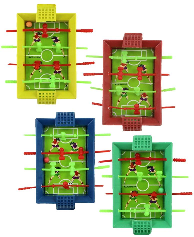Tischfußball mit 8 Spielern und 1-2 Bällen ca 10x8,5cm