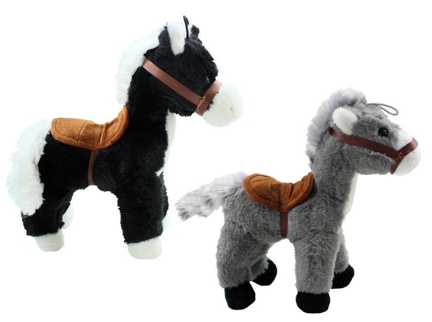 Pferd 2-fach sortiert mit Sattel stehend ca 26 cm