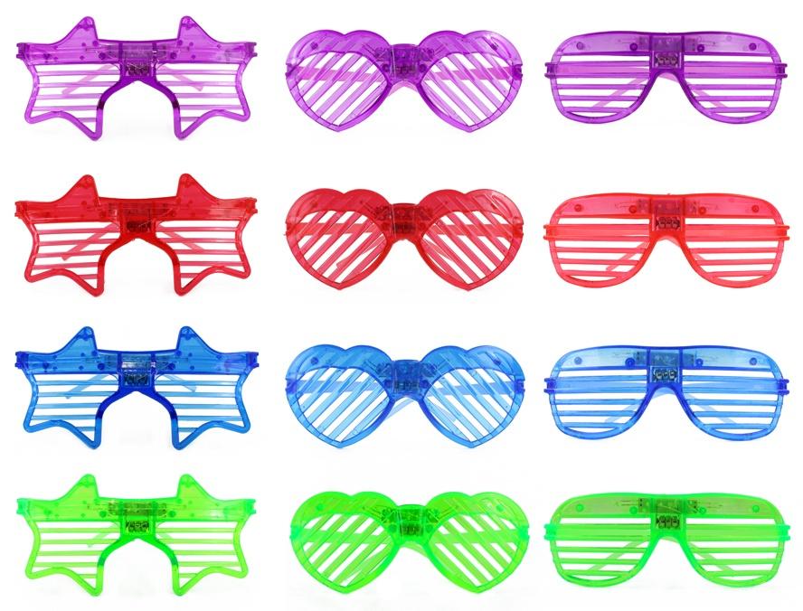Brille mit Licht Leuchtbrille 12-fach sortiert ca 15 cm