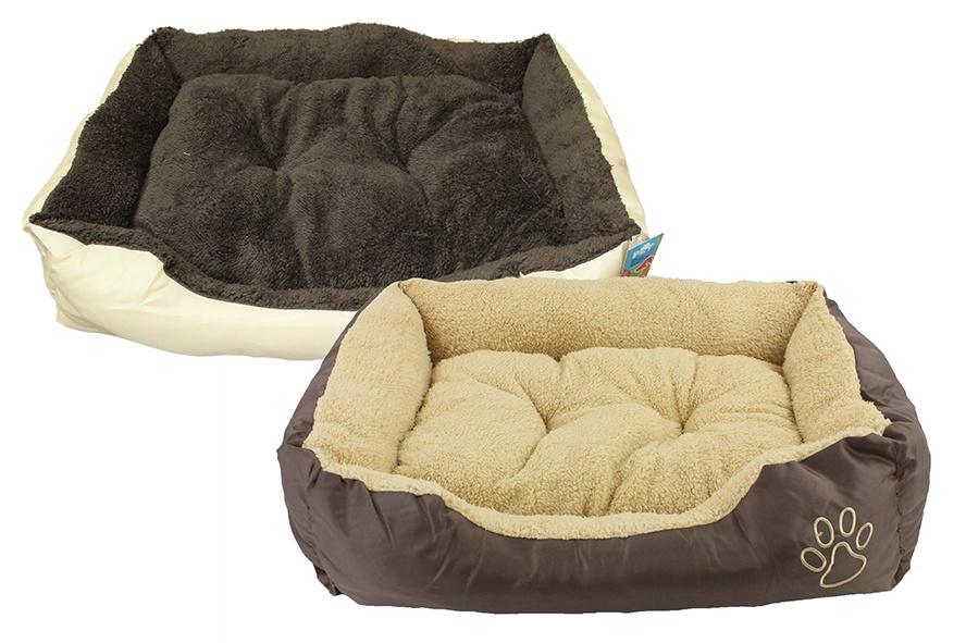 Schlafkorb Hundebett  2-fach sortiert - ca 61x48x18cm
