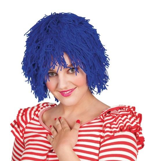 Perücke - Fuzz Garnperücke Clown blau