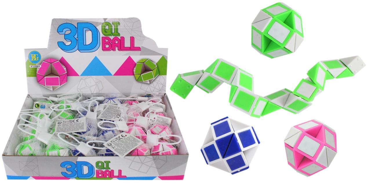 Puzzle Ball 3D 3-farbig sortiert - Ø ca 4 cm