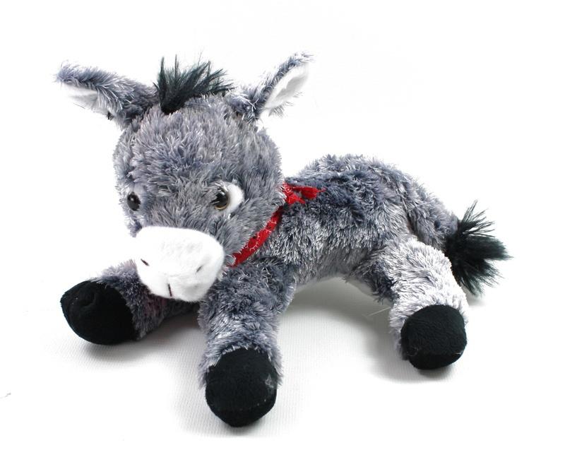 Esel mit Halstuch liegend ca 22 cm