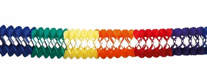 10-m-Girlande Regenbogen, ca. 18 cm Ø