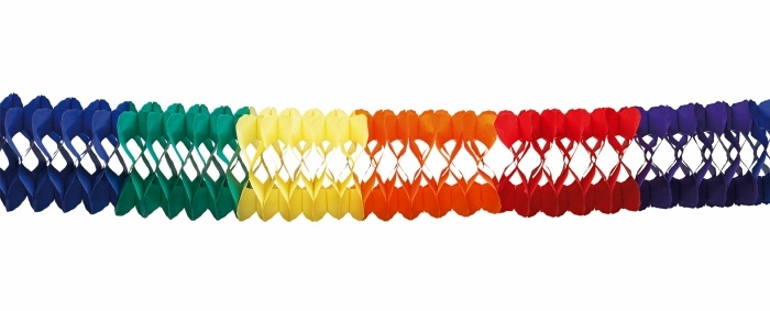 10-m-Regenbogengirlande bunt