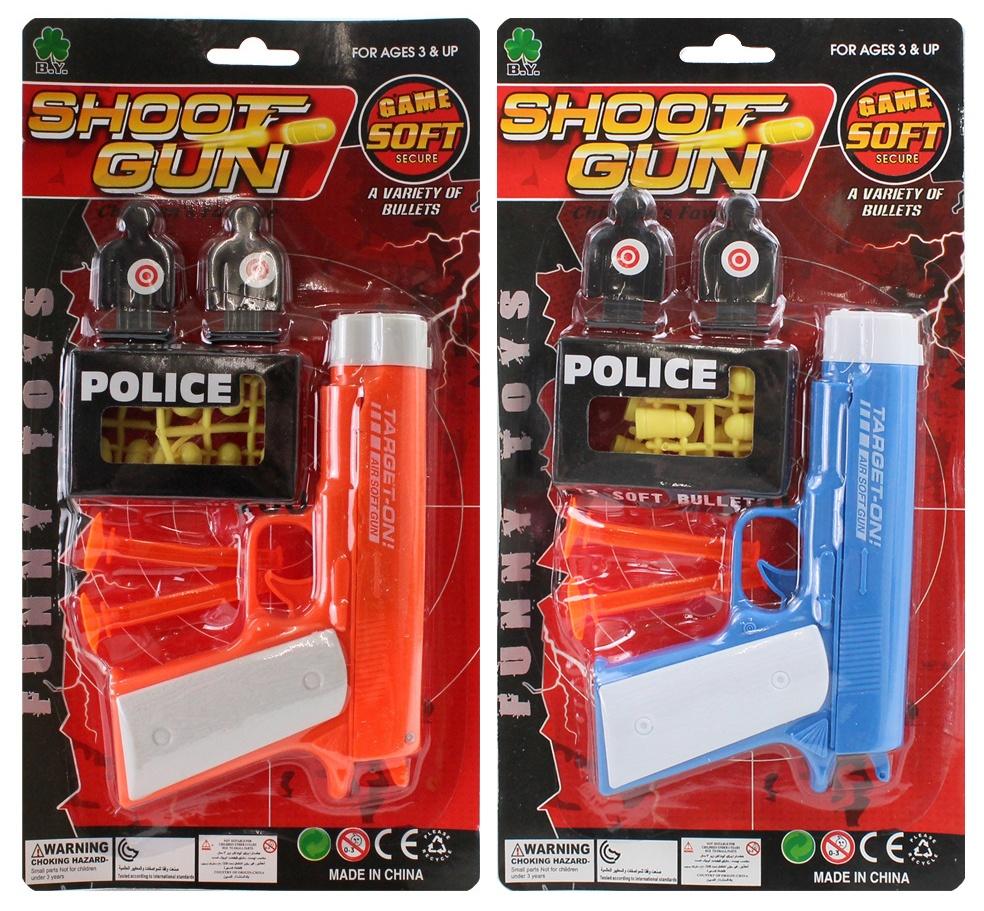 Pistole mit Munition auf Karte ca 29x15,5cm