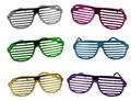 Brille - Partybrille 6-fach sortiert metallicfarben ca 16 cm