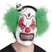 Maske Horror Clown mit Haar - aus Latex