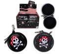 Piratenbox an Karabiner Schlüsselanhänger - ca 7,5cm